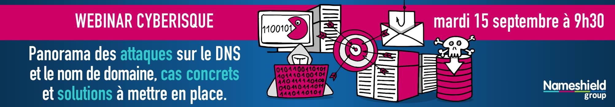 Cyberisque : panorama des attaques sur le DNS et le nom de domaine, cas concrets et solutions à mettre en place.